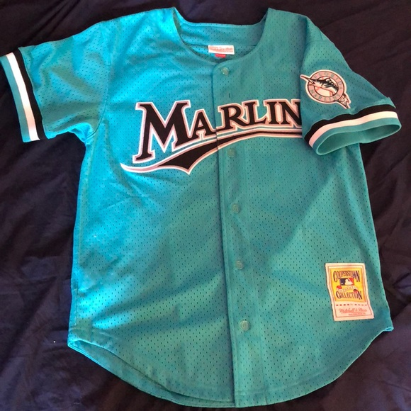 best service 63095 d572c Mitchell & Ness Florida Marlins Baseball Jersey.